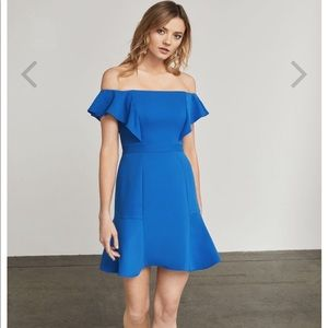 Bcbg blue alandra dress